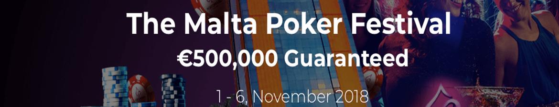 Анонс Malta Poker Festival – €500,000 GTD